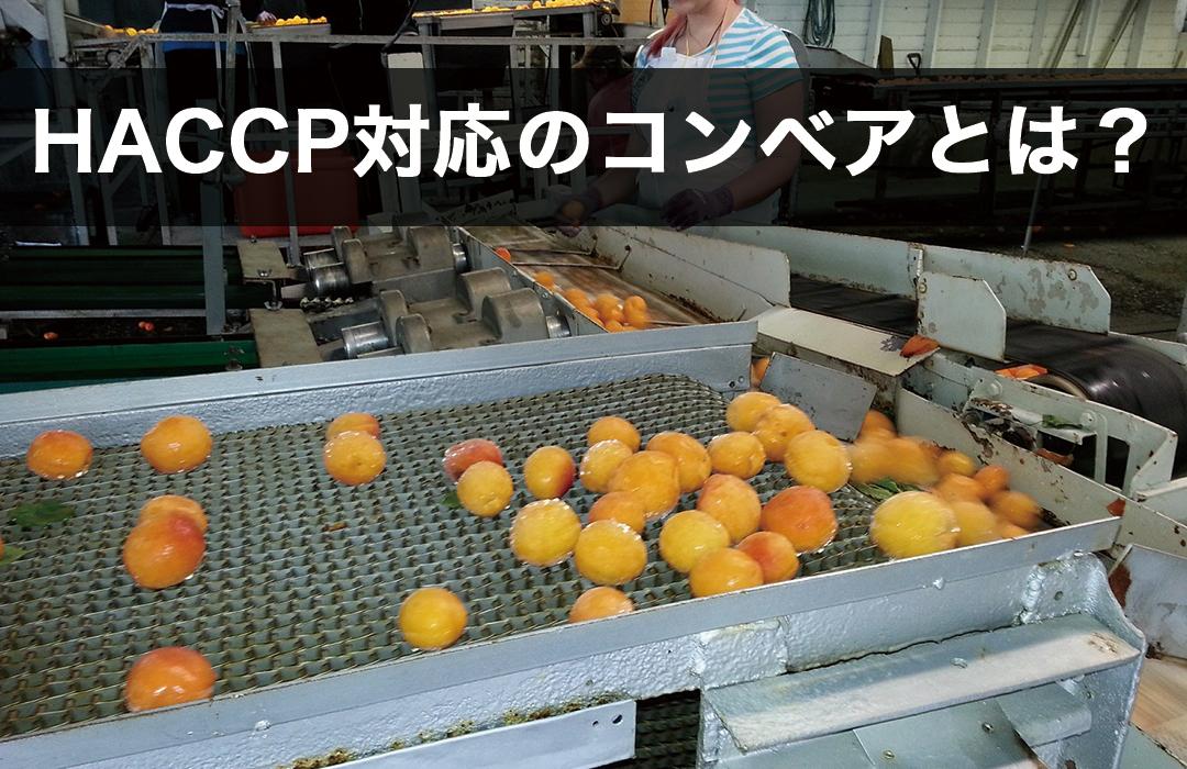 HACCP対応のコンベアとは?